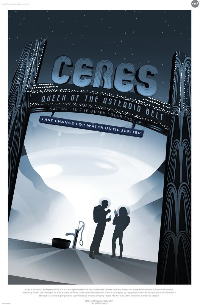 ceres free nasa space tourism program poster