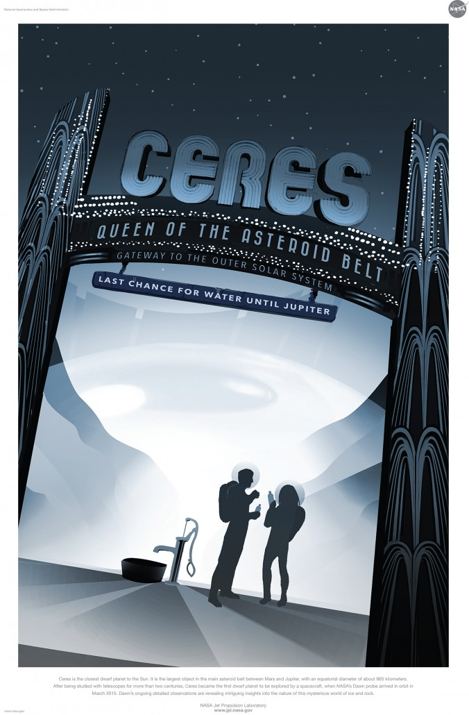 ceres free nasa space tourism program poster