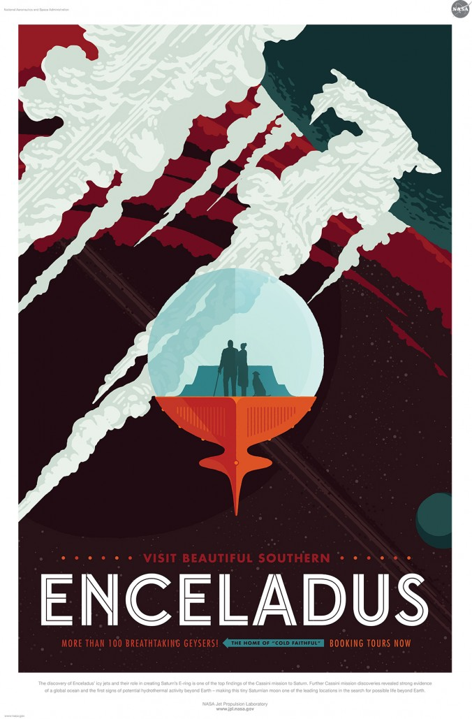 enceladus free nasa retro space tourism posters