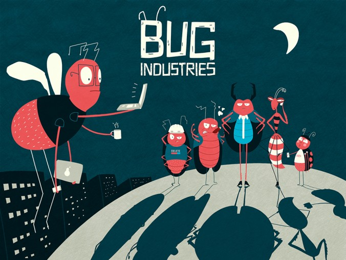 kickstarter bug industries logo characters art sarah kohl blog