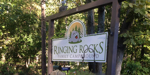 ringing rocks campground Pennsylvania