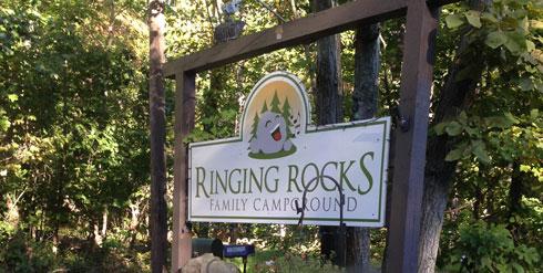 ringing rocks campground Pennsylvania